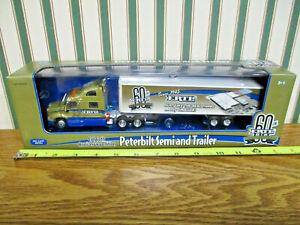 Ertl 60th Anniversary Peterbilt Semi With Van Trailer 1/64th Scale >
