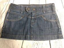 Express Denim Jean Micro Mini Skirt Women's Size 4 Dark Wash silver thread