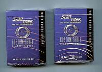 Star Trek Next Generation Decipher CCG 2X Sealed Starter Decks Amricons 1994/5