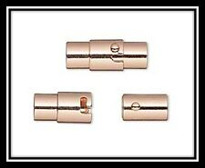 Clasp, magnetic, copper-plated brass, Value Pack of 4 clasps