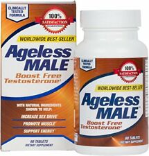 NEW Ageless Male Free Testosterone Booster by New Vitality - NEW - 60 Tablets