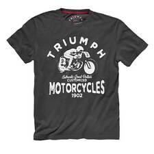 NWT - TRIUMPH MOTORCYCLES Men's 'PHOENIX' Grey BIKER T-SHIRT / TEE - S