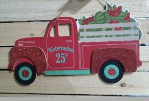 New Red Watermelon Glittery Truck