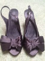 MARYPAZ black heels rockabilly bow vintage burlesque party leather 5 6 38 39