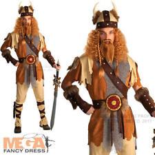 Viking Warrior + Casco Da Uomo Costume Storico Medievale adulti maschi Costume