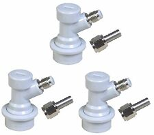 Ball Lock Gas Disconnect for Cornelius Kegs - 3 Pack