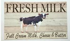 Cow Farm Milk Butter Sign Cheese Plaque Farm House Dairy Kitchen Country Vintage
