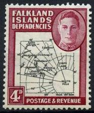 Falkland Islands Dep. 1946-49 SG#G5, 4d KGVI Thick Map MH #D27231