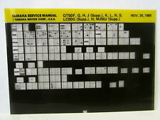 Yamaha QT50 LC50 MJ50 1979 - 1986  Service Manual  Microfiche y175