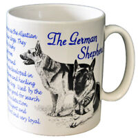 German Shepherd Alsatian Dog Breed Facts Bone China Mug - Ideal Gift