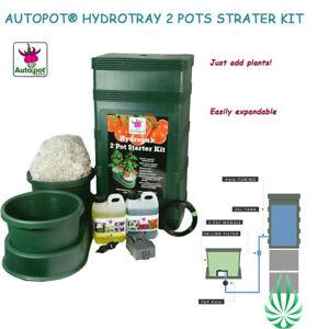 Hydroponics AutoPot Hydrotrays 2 Pots Starter Kit Watering Plant Grow System