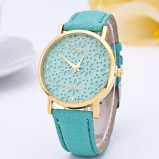 Ladies Gold Geneva Platinum Range Quartz Snow Flake Green Faced Wrist Watch.