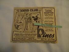 Lionel Hampton concert The Pines South Fallsburg NY 1963 newsprint ad
