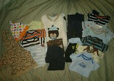 Baby boy lot 21 items, pants, jacket, fuzzy full body Suits And more 3/6m