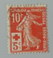 France 1914 147 semeuse croix rouge YT 147 oblitéré cote 4 euros