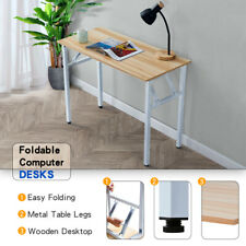 Folding Computer Desk Pc Laptop Table Workstation Office Study Furniture White