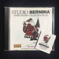 Christmas Embroidery Designs Card #113 Studio Bernina Deco Brother White