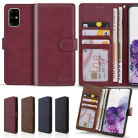 ID Leather Wallet Flip Card Holder Cover Case for Galaxy Note20 / S20 Ultra