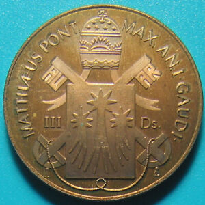 1989 PAPAL STATES VATICAN 3 DUCAT COPPER PROOF DOVE UNUSUAL FANTASY MNT=10 COINS