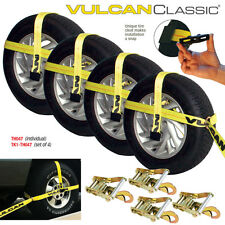 """VULCAN Universal Car Trailer Tie Down Kit - Fits 13"""" to 22.5"""" Tires"""