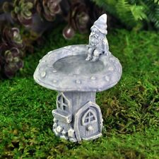 Gnome House Bird Bath Fairy cottage Home Garden Craft Décor