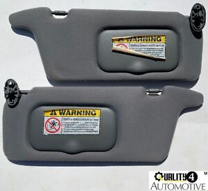 2001-2005 HONDA CIVIC DARK GRAY OEM SUN VISORS Set Pair Left / Right