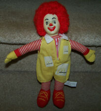 "Ronald McDonald 11"" Clown Doll Vintage Plush 1970 Collectible Non-Tie Lace Shoes"
