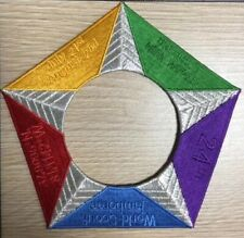 2019 World Scout Jamboree United States Pentagon Pentagram Center Patch SMALL