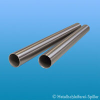 Edelstahl Rundrohr V2A /Ø 14x2mm L/änge 1200mm K240 120cm auf Zuschnitt