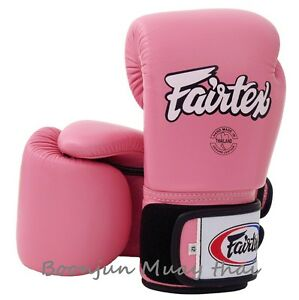 Fairtex Muay Thai Boxing Gloves BGV1 Pink Training Sparring MMA K1 10 12 14 16