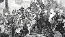 GRAVURE ANCIENNE 19e - CARNAVAL D'OUARGLA - ALGERIE