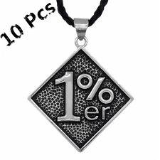 Wholesale 10 pcs 1% ER Motorcycle Outlaw Biker Men's Pendant Black Necklace