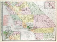Antique Southern California State Railroad Map (c.1907)