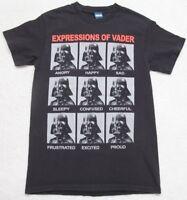 Star Wars Tee Shirt Darth Vader Short Sleeve T-Shirt Small 34-36 Black Gray Red