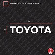 2x TOYOTA sticker vinyl car decal