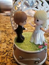 Precious Moments Musical Figurine Wedding March First Dance Couple #172101 Rare