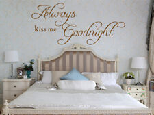 Always Kiss me Goodnight Wall Quotes Wall Stickers Bedroom UK 148