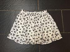 Bershka Negro y Blanco Floral Mini Falda Talla Grande 30 Nuevo