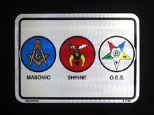 Masonic - Shrine - Eastern Star Reflective Foil Decal - ONE DOZEN