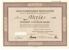Maschinenfabrik Weingarten  100DM  1951