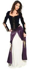LADY MUSKETEER Costume Faux Suede Dress Top Peasant Skirt Large 14 16 Muskateer