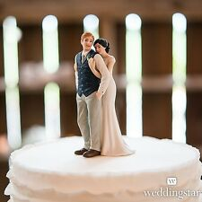 A Sweet Embrace Porcelain Wedding Cake Topper