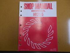 1980 HONDA HR21-5 Lawn Mower Factory Service Shop Repair Manual