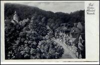 1936 Stempel BAD SOODEN ALLENDORF auf AK Strassen Partie Weinreihe s/w Postkarte