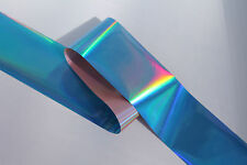 """Holographic Blue"" Transfer nail art foil 1 meter"