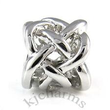 Lot 10pcs Celtic Knot Cross Silver European Bracelet Spacer Charm Bead W#499