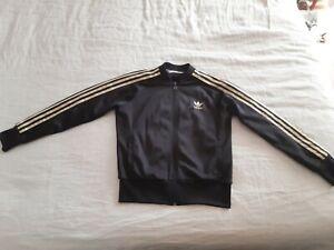 Adidas Gold Stripe Jacket Size 14