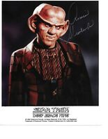 "Star Trek Deep Space 9 Armin Shimmerman as ""Quark"" Hand Signed In Person W/COA"
