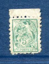 Blanc N° 111 5c vert variété petit format de la poste enfantine TYPE II