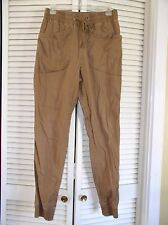 PACK Brown Rust Drop Front Elastic Waist Ankle Stretch Pants Men's Size 32 NICE!